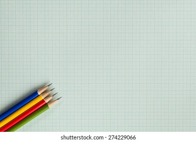 pencils on graph paper