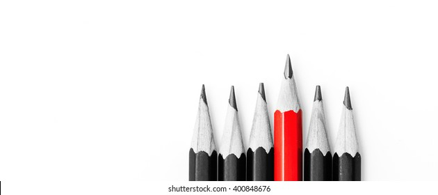 pencils on white. Soon to school. Back to School
