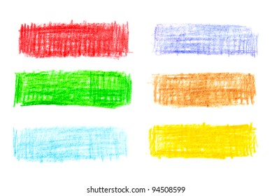 pencils strokes banners on white background