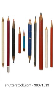 pencils of various shapes and colors