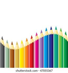 Pencils wave. JPEG version.