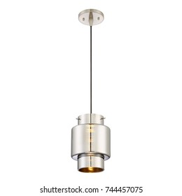 Pendant Lighting Isolated on White Background. Light Fixture. Chandelier Lighting. Ceiling Light Lamp with Glass Lamp Shade. 1-Light Round Chandelier. Pendant Sconce. Pendant Lamp. Hanging Lights