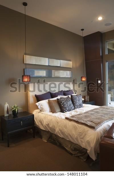 Pendant Lights Bedroom Silk Furnishing Stock Photo Edit Now