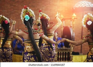 Pendet Traditional Balinese Dance in GWK Garuda Wisnu Kencana