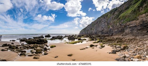 Pendine beach , Wales