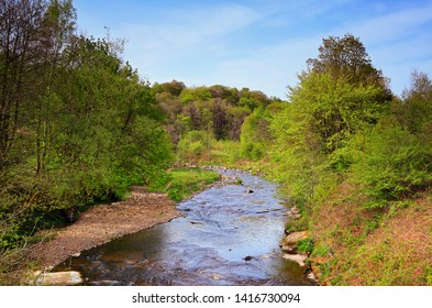 Pendle Water, viewed from Quaker Bridge, Brierfield, Nelson, Lancashire