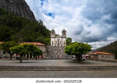 Peneda Geres National Park, Portugal - June 13, 2019:  Vew of the beautiful Santuario de Nossa Senhora da Peneda, at the Peneda Geres National Park, in Norhern Portugal.