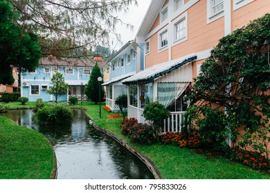 Penedo, Rio de Janeiro, Brazil - Dec 23, 2017: Penedo was settled by Finnish immigrants in 1929, a major tourist attraction that has maintained its distinctive Finnish heritage
