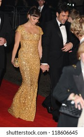 "Penelope Cruz and Javier Bardem arriving for the ""Skyfall"" world premiere after party at the Tate Modern, London. 23/10/2012 Picture by: Steve Vas"