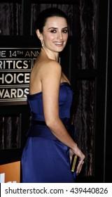 Penelope Cruz at the VH1's 14th Annual Critics' Choice Awards held at the Santa Monica Civic Auditorium in Santa Monica, USA on January 8, 2009.