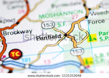 Pennsylvania In Usa Map.Penfield Pennsylvania Usa On Map Stock Photo Edit Now 1131353048