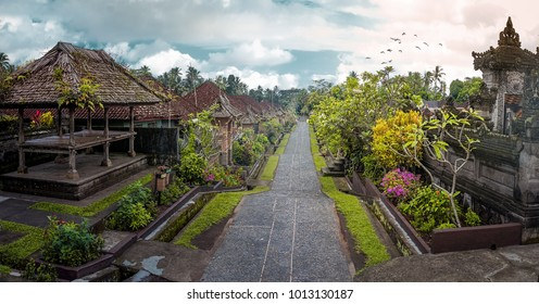 Penglipuran is a traditional bali village at Bangli Regency with Bale Bengong for meeting pavilion and straight street.