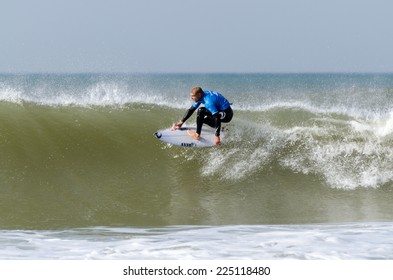 PENICHE, PORTUGAL - OCTOBER 19, 2014: Mick Fanning (AUS) during the Moche Rip Curl Pro Portugal, Men's World Championship Tour #10.