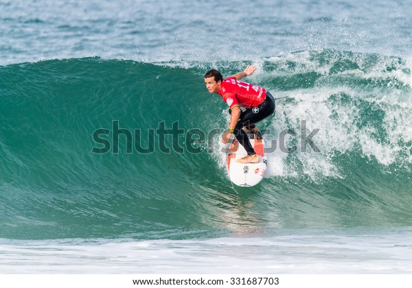 PENICHE, PORTUGAL - OCTOBER 23, 2015: Julian Wilson (AUS) during the Moche Rip Curl Pro Portugal, Men's Samsung Galaxy Championship Tour #10.