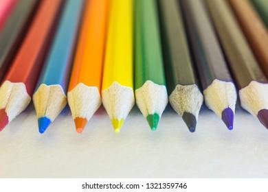 Penils Colors macro - Shutterstock ID 1321359746