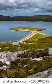 Peninsula Ard Neakie With Lime Kilns At Loch Eriboll In Scotland