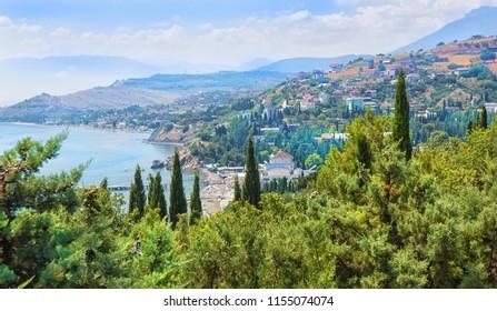 peninsula of Crimea mountain coast in the summer