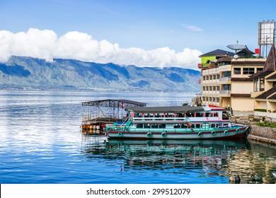 peninsula Tuk-tuk. Island Samosir, Lake Toba. Sumatra