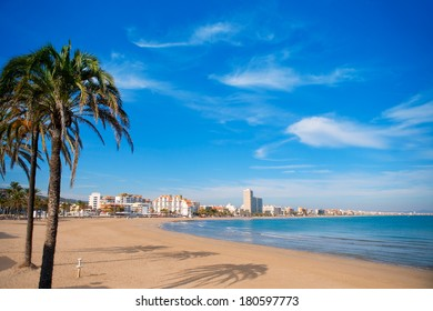 Peniscola beach in Castellon Valencian community of spain