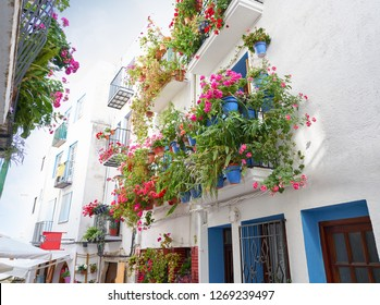 Peniscola old village in Castellon of Spain Mediterranean downtown
