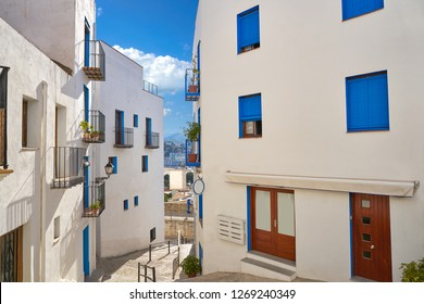 Peniscola old village in Castellon of Spain Mediterranean downtown