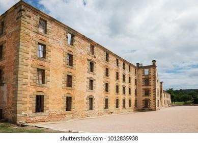 The penitentiary building at Port Arthur in Tasmania, Australia.Port Arthur Historic Site.