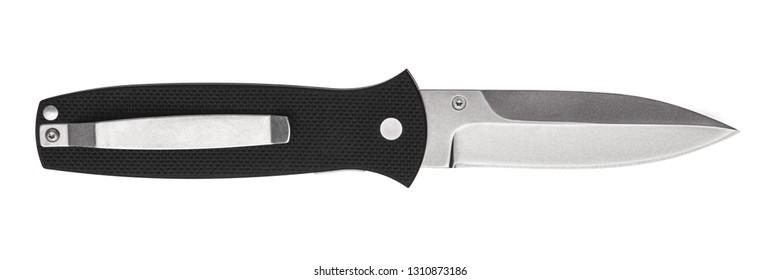 Penknife folding knife isolated on white background. Clasp knife. Jack-knife isolated on a white