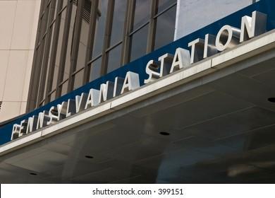 Penn Station sign
