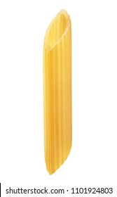 Penne rigate pasta isolated on white background. With clipping path.