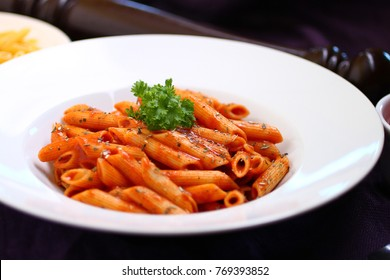 Penne with sauce