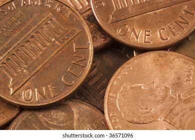 Pennies Closeup