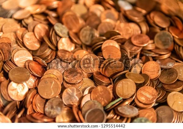 Pennies coins money