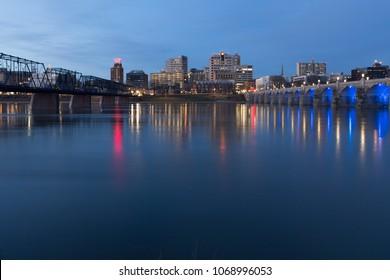 Pennsylvania, HARRISBURG skyline, USA - 07 Apr 2018