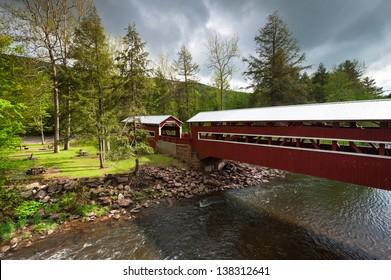 Pennsylvania Historic Twin Wooden Covered Bridges