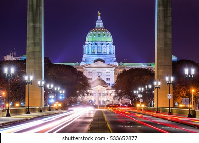 Pennsylvania State Capitol in Harrisburg, Pennsylvania, USA.