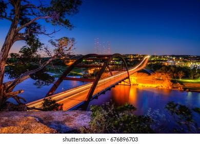 Penny-backer Bridge before sunrise