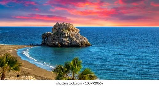 Penon del Cuervo. Costa del sol, Malaga, Spain