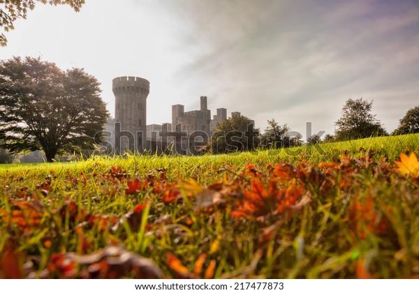 Penrhyn Castle in Wales, United Kingdom, series of Walesh castles