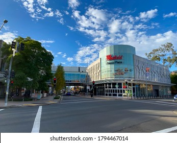 PENRITH, AUSTRALIA – On May 27, 2020. – The facade building of Westfield is a shopping centre in Penrith, located west of Sydney Metropolitan area.