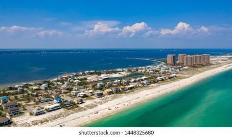 Pensacola Beach Aerial View of Coastline - Beach