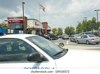 PENSACOLA, FL - AUGUST 1: Patrons jam Chick-Fil-A restaurant in Pensacola, FL, on August 1, 2012 on national Day of Support following backlash from the owner supporting traditional marriage.