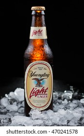 Pensacola, FL - August 12, 2015: Yuengling Light beer from America's oldest brewery, Yuengling.