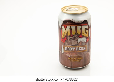 PENSACOLA, FL - August 17, 2016: Mug Root Beer is made by New Century Beverage Company.