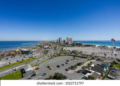 pensacola,fl/usa-october 30 2017 pensacola beach ariel view