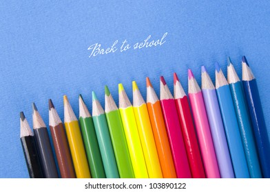 Pensils set with inscription Back to school