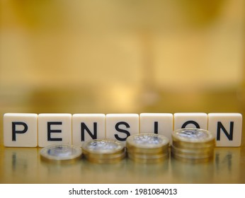 Pension financial planning and retirement concept