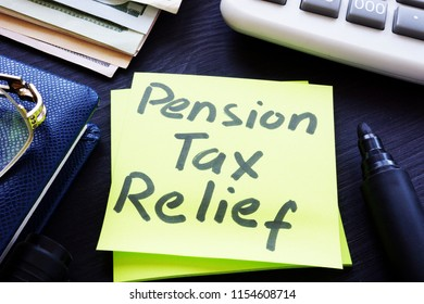 Pension tax relief written on a stick.