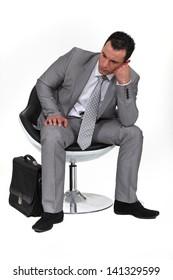 Pensive businessman