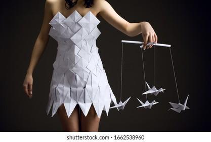 black and white fashion photography | Tumblr | Origami fashion ... | 280x417