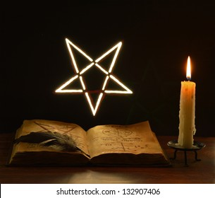 Pentacle on the wall (light)